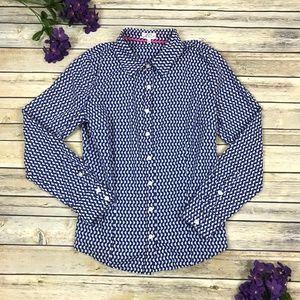 Crown & Ivy Button Down Circle Print Shirt